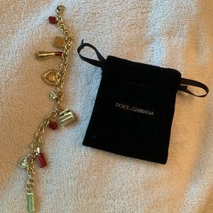 Dolce and Gabbana charm bracelet gold